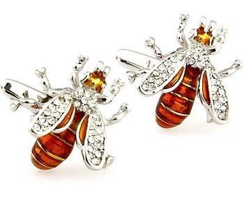 Lovely Bee Style Cufflinks/ Novelty Cufflinks/ Men's Gift & Jewelries