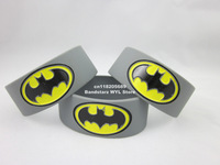 "BATMAN Bracelet, Batman wristband, 1"" wide band, filled in colour, 50pcs/lot, free shipping"