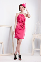 317-1lf  Free shipping 2013 Sexy backless bandage Celebrity dress Party Evening Dresses Pink