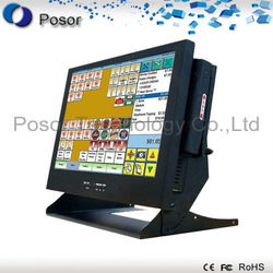 "Factory outlets: ALL In One 15"" Touch screen POS equipment POS system point of sales financial device payment machine: P15-B4(China (Mainland))"