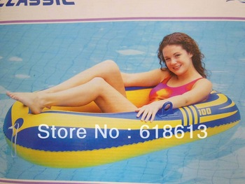 summer inflatable water swim one person boat product inflatale boat toy