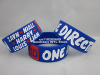 I Love One Direction wristband,I Love Niall,Harry,Zayn,Louis,Liam bracelet,1D silicone band,50pcs/lot,free shipping