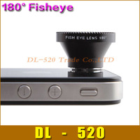 180 degree Detachable maganetic Fisheye lens for iPhone 4 for iPhone 5 Samsung S3,Free shipping 1 pcs