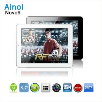"NEW Arrival! Ainol NOVO 9 Spark 9.7"" IPS  Retina Capacitive Allwinner A31 Quad Core 2048x1536 2GB 16GB WIFI bluetoothTablet PC"