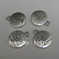 25pcs Vintage Style Silver Tone Alloy Round Tree of Life Pendant Charm Jewelry Finding Hot Sale 00009 -2