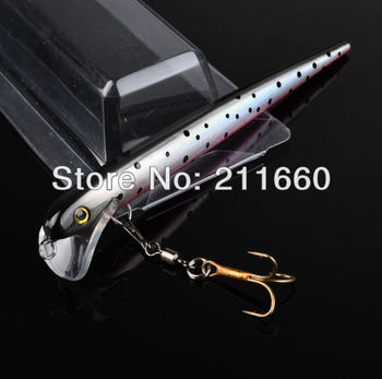 Exported to Japan Market 2 color 12.5cm/8g fishing lures hook with rolling swivels fishing hard bait,hard bait lures Free Ship