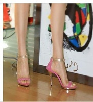 free shipping,2014 party wedding shoes patchwork peet toe sandals,high heels party shoes,party shoes,lady shoes,4 colors
