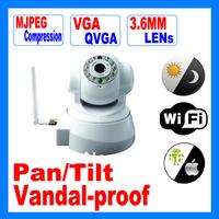 Wireless Remote CCTV PTZ IP Housing Camera / Infrared Network PTZ Security Camera / Pan Tilt Wifi Alarm Camera       AG-C725IP