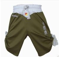 Man's 100% Elastic Cotton Embroidery Muay Thai Shorts  Ancient authentic Muay Thai boxing shorts HOT!( S M L XL XXL)