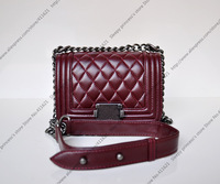 20CM Mini Le Boy Flap Bag Lambskin Leather Flap Bag Mini Boy Bag With Aged Chain Leather Shoulder Strap (SPG042)