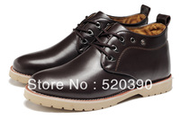 free shipping man/men casual 100% genuine leather shoes/ fashionable boot/ dropping shippment