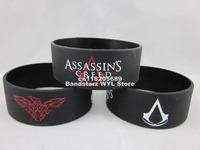 "Assassin's Creed wristband,silicone bracelet,figure wristband,,1"" wide band,50pcs/lot,free shipping"