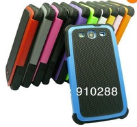 Retail  Dual Layer Hybrid Hard Case Cover for Samsung Galaxy S3 III i9300 (11 Colors)