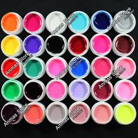 30 Pcs Pure Solid Color UV Builder Gel Set False Full French Tips Nail Art Salon #Pure30C