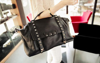 Free shipping!New 2014 Fashion Rivet  Women Handbag Messenger Shoulder Bag Designers Brand  Vintage Tote