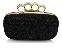 2013 new arrival! Ladies' Clutch Knuckle Rings bag, crystal rhinestones evening bags ,party clutch bags , free shipping FL01
