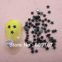 Free Shipping 10000pcs/lot Black Flatback star nail art Rhinestone stone decorations