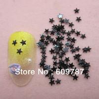 Free Shipping 10000pcs/lot Black Flatback star nail art Rhinestone stone decorations