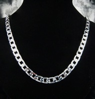 925 Necklace - PBN034 / 8MM spring necklace ,Fashion jewelry 2013 ,925 sterling silver chain necklace for men ,high quality