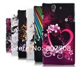 New Colorful Flower butterfly Hard Case For Sony Xperia Z Yuga C6603 fish heart zebra case for L36h free hk