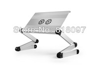 Free shipping- High quality aluminium alloy cooler stand with free gift LED light