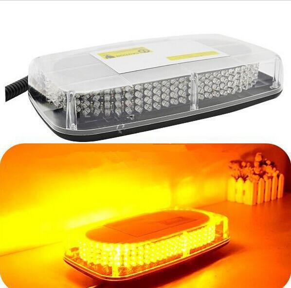 Amber Emergency Hazard Warning LED Mini Bar Strobe Light w/ Magnetic Base(China (Mainland))