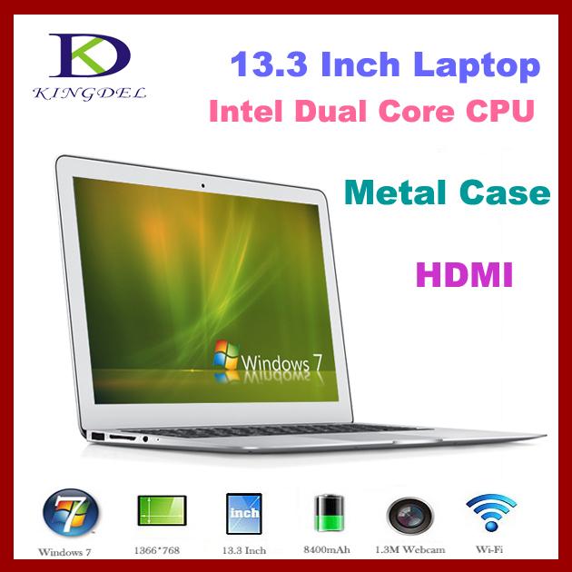 "13.3"" Thin Laptop+Notebook+Intel i3 Dual Core 1.80Ghz,Quad Threads,4GB RAM&128GB SSD,Webcam,8400Mah Battery(China (Mainland))"