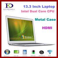 "13.3"" Thin Laptop+Notebook+Intel i3 Dual Core 1.80Ghz,Quad Threads,4GB RAM&128GB SSD,Webcam,8400Mah Battery"
