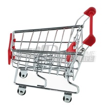Red trolley Phone Holder Baby Toy Mini Supermarket Shopping Handcart(China (Mainland))