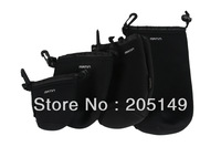4X Neoprene Soft Protector Camera Lens Pouch bag case backpact Set Size: S M L XL