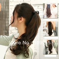 Womens Lace up Ponytail Horsetail Long Hair Piece Wavy Pony Hair Extension New  LX0009