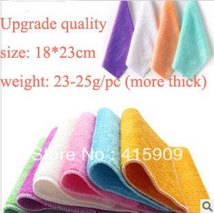18*23cm  23-25g/pc  12pc/lot ANTI-GREASY dish cloth,bamboo fiber washing dish cloth,magic multi-function wipping rag