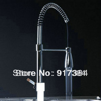 "21"" Kitchen Sink Pull Up e Down Spray in ottone cromato Tap Faucet Mixer JN8549"