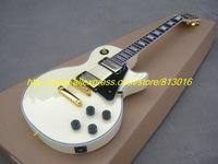 Free shipping New style G-USA LP mahogany cream white  color H-H Electric Guitar Golden Hardware!