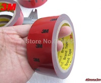 40mm*3m 3M Tape Auto Truck Car Acrylic Foam Double Sided Attachment Tape Adhesive Free shipping
