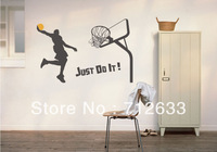 Just do it dunk Huge Removable Wall Stickers Kids Nursery Vinyl Decals wall sticker decal mural decor8510610