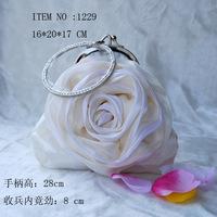 NEW arrival Free shipping mini flower bags ladies parties handbag silk evening bags mini purse wallet for women