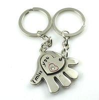1194 cartoon couple key chain logo