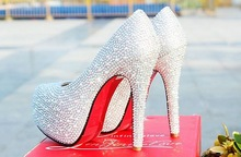 Free shipping hot sell 11cm high heel women pumps shoes with rhinestone(China (Mainland))