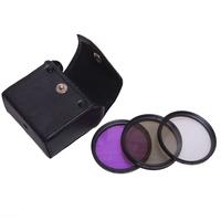 52mm Polarized PL+UV+FLD CAMERA FILTER Kit for Nikon D3100 D5000 D5100 D7000