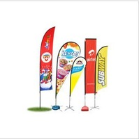Scale outdoor beach flag, advertising flag pole water flooding flagpole 3 m 5 meters, 7 meters