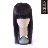 Free  Really hand made 100% Real H Hair  wig women's hair straight
