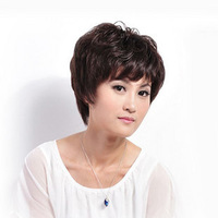 Real Hair Wig Stubbiness Female Fashion  Hand-made H Hair  Full Lace