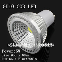 led spotlight gu10 10pcs 5W COB E27 GU10 MR16 gu10 led dimmable  base super bright warm white white cool white gu10 led 5w led