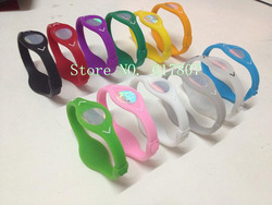 50pcs/LOT Free Shipping silicone hologram bracelets bangles power bands balance energy wristband with OPP bag(China (Mainland))