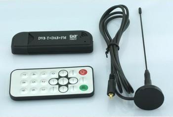 Free shipping RTL- FM+DAB USB DVB-T Dongle DVB-T STICK RTL2832U+R820T