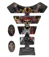 Refires decoration motorcycle scooter applique personalized fishbone protector fuel tank stickers pirate b