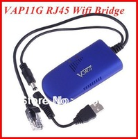 3pcs/lot VAP11G WIFI Bridge  RJ45  For Dreambox Xbox PS3 PC Camera TV Wifi Adapter free shipping
