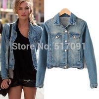 2014 Classical Casual Retro All Match Women's Coat Jeans Jackets Ladies Cowboy Punk  Short Jacket Brands HHJ8272
