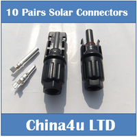 20 Pairs Lot TUV MC4 solar PV connector IP67 Free Shipping